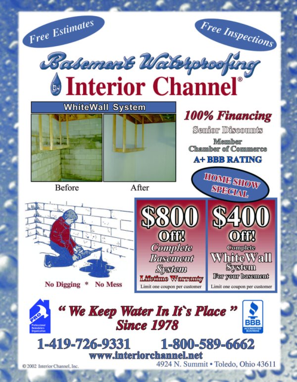 Interior Channel Basement Waterproofing